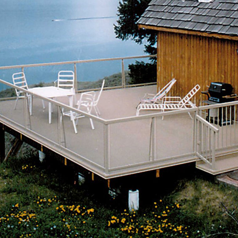 Image showing Duradek products and decking on a Boathouse